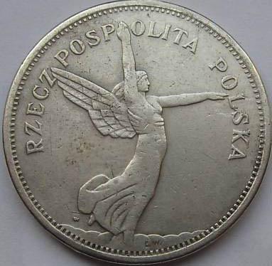 Монета польша 5 злотых 1931 год ника